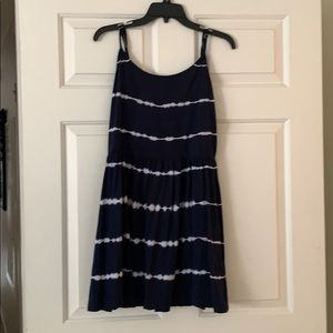 Gap navy tie-dye dress